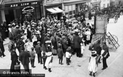 Llangefni, The High Street, A Punch And Judy Show c.1900