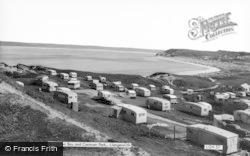Llangennith, Broughton Bay And Caravan Park c.1965