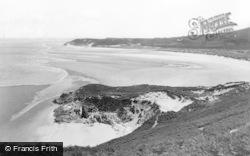 Llangennith, Broughton Bay And Cliffs c.1950