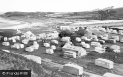 Llangennith, Broughton Farm Caravan Site c.1960