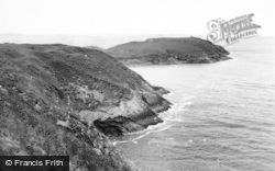 Llangennith, Burry Holms Cliffs c.1950