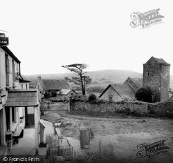 Llangennith, General Stores And St Cenydd's Church c.1960