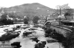 Llangollen, Railway Station And River Dee 1914