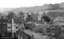 Llangollen, The Bridge And Castle Street c.1955