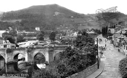 Llangollen, The River Dee Bridge 1914