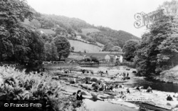 Llangollen, The River Dee c.1965