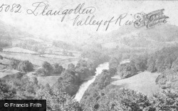 Llangollen, Valley Of The River Dee c.1868