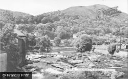 Llangollen, View From The Bridge c.1955