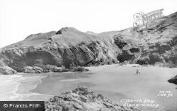 Llangrannog, Cilborth Bay c.1960