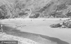 Llangrannog, Cilborth Beach c.1960