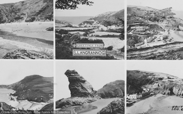 Photo of Llangrannog, Composite c.1960