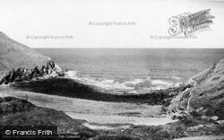 Llangrannog, Cwmtydu c.1955