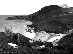 Llangrannog, The Beach And Cliffs c.1955