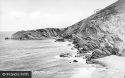 Llangrannog, The Cliffs (North) c.1955