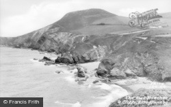 Llangrannog, The Two Beaches And Cliffs c.1955