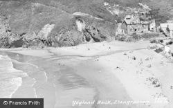 Llangrannog, Ysgland Rock c.1955