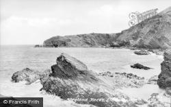 Llangrannog, Ysgland Rocks c.1955