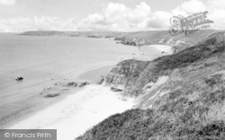 Beach And Headland c.1955, Llangwnnadl
