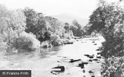 Llangynidr, River Usk And Tor Y Foel c.1960