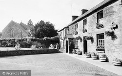 Llangynidr, St Cynidr And St Mary's Church And Red Lion Hotel c.1965