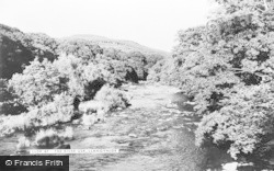 Llangynidr, The River Usk c.1960