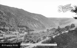 View From Llangynog Bala Road c.1960, Llangynog