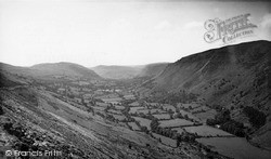 Llangynog, View From The Bala Road c.1960