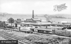 Llanharan, The Dairy And Station c.1955