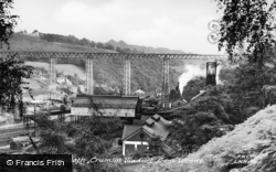 Llanhilleth, Crumlin Viaduct From The Woods c.1965