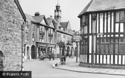 Llanidloes, Bank And Town Hall c.1955