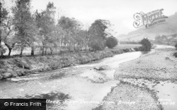 Llanidloes, River Severn From Bridge c.1960