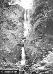 Llanrhaeadr Ym Mochnant, Pistyll Rheadr (240 Ft High) c.1960