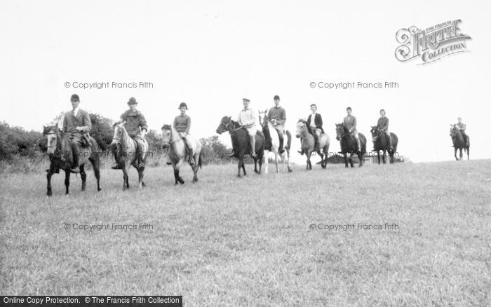 Photo of Llanrhaeadr Ym Mochnant, Pony Trekking c.1965