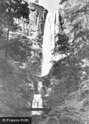 Llanrhaeadr Ym Mochnant, The Waterfall c.1950