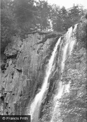 Llanrhaeadr Ym Mochnant, The Waterfall c.1955