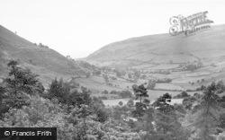 Llanrhaeadr Ym Mochnant, View From The Waterfall c.1955