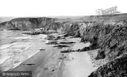 Llanrhian, Traeth Llyfn Beach c.1960