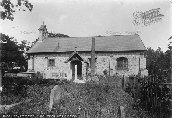 Photo of Llanrhydd, St Meugan's Church And Ancient Cross c.1900
