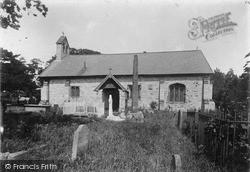 Llanrhydd, St Meugan's Church And Ancient Cross c.1900