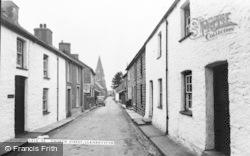 Llanrhystud, Church Street c.1955