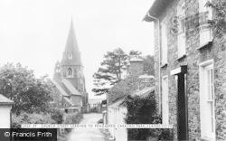 Llanrhystud, Church Street Leading To Pengarreg Caravan Park c.1960