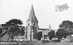 Llanrhystud, St Rhystud's Church c.1955