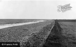 Llanrhystud, The Beach c.1955