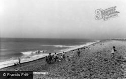 Llanrhystud, The Beach c.1960