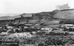 Llanrhystud, The Village From The Foel c.1955