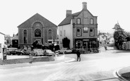 Llanrug, Post Office and Church c1955