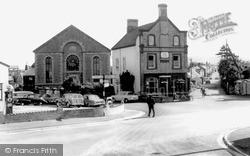 Llanrug, Post Office And Church c.1955