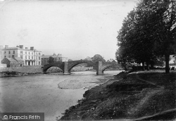 Llanrwst, Bridge And Victoria Hotel 1892
