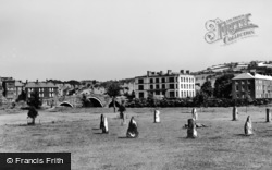 Llanrwst, Bridge And Victoria Hotel From Gwydyr Park c.1950
