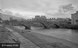 The Bridge And River Conway 1952, Llanrwst